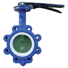 EPDM Seated Manual Lug Butterfly Valves Wafer Type For Ship Building / Textile