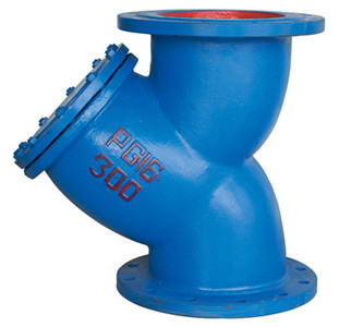 Ductile Iron A126 GG25 Water Meter Strainer , Length According As F6 Standard